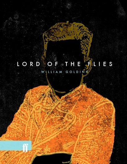 The Fox Is Black » Re-Covered Books: 'Lord of the Flies' #old #of #design #book #texture #sleeve #cover #lord #the #flies
