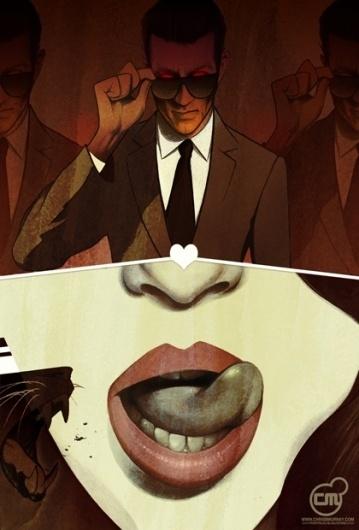 Picture man-eater-2 « Illustration | Chris B. Murray #man #illustration #eater