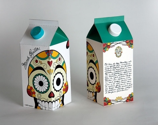 packaging | UQAM | Sylvain Allard #packaging #milk #sugar #skull