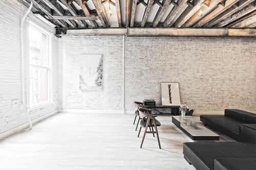 [y_h_b_t_i] | this all day #interior #beams #brick #home