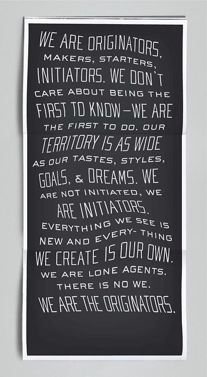 ORIGINATORS #manifesto #quote #originators #initiators #poster