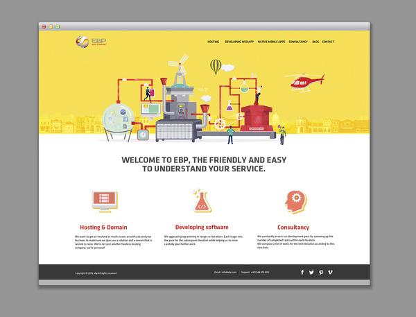 Web design #flat #lab #design #icons #illustration #concept #web #bratus