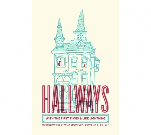 Hallways.jpg (JPEG Image, 670x600 pixels) #illustration #posters
