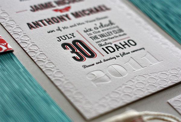 Jaime and Anthony Wedding Invitation #wedding #stationary #invitation