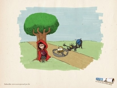 I Believe in Advertising | ONLY SELECTED ADVERTISING | Advertising Blog & Community » Novo Jornal: Three Little Pigs, Little red riding hood, Snow Wh #advertising