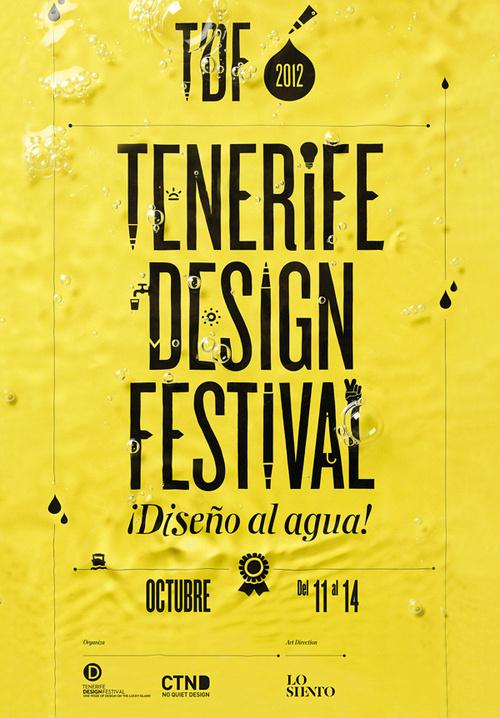 TDF - Typographie , Lo siento #festival #design #poster #tenerife #type