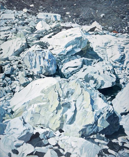 Paintings by Nino Malfatti via butdoesitfloat.com #snow #landscape #illustration #painting #ice