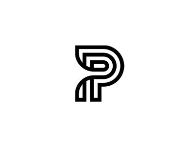 Dribbble - P by Jeff Jarvis #logomark #logo