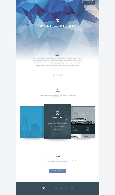 Vivekspiral portfolio #portfolio #design #graphic #ui #web
