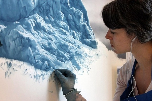 Pastel Icebergs by Zaria Forma #painting #sea #art