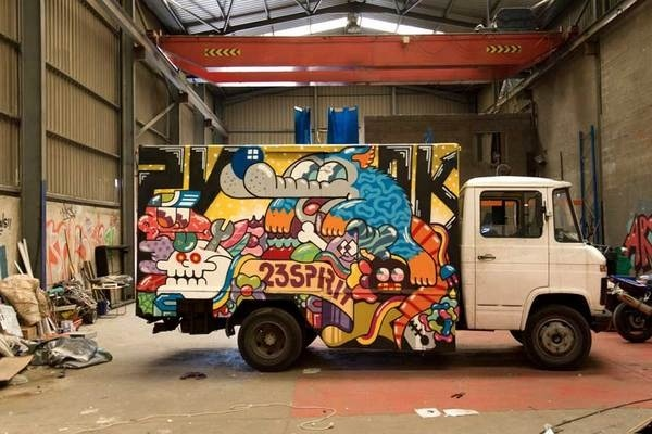 Introducing The Mind Blowing Artist Grito | Abduzeedo Design Inspiration #truck #graffiti #design #art #street #painting