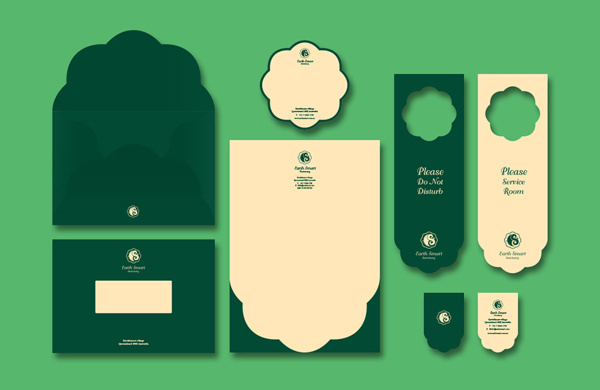 Earth Smart Sanctuary #branding #earth #smart #sanctuary #hotel #logo #resort