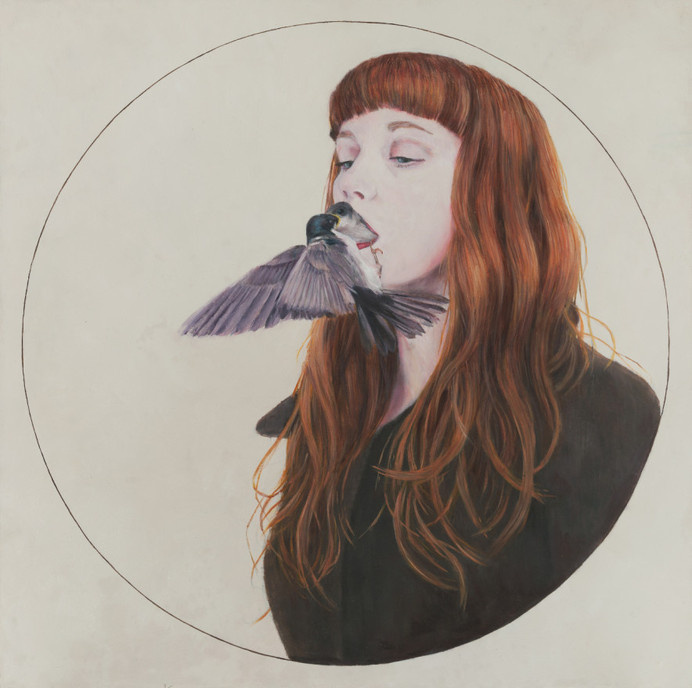 christer karlstad - empty kingdom - art blog #design #bird #illustration #strange #painting #art #circle #surreal