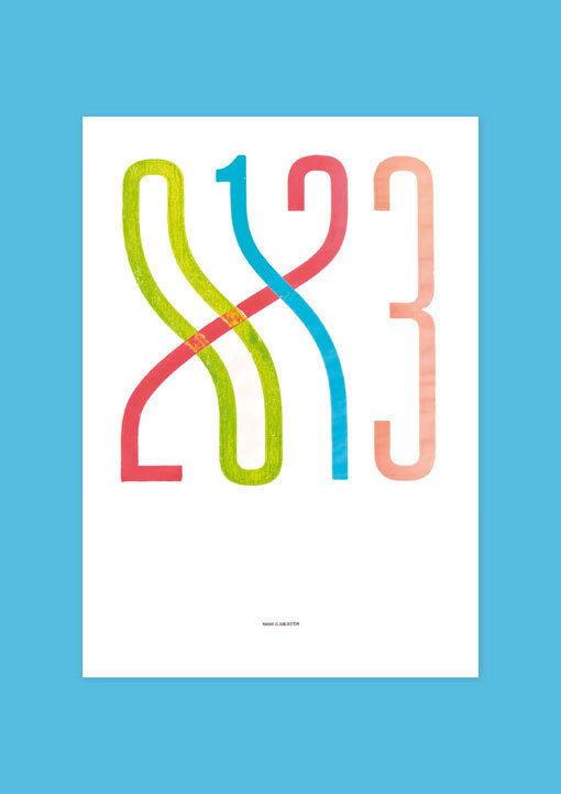 Pupilpeople: 2013 Order is Subjective Prints #red #typography #2013 #numbers #blue #green