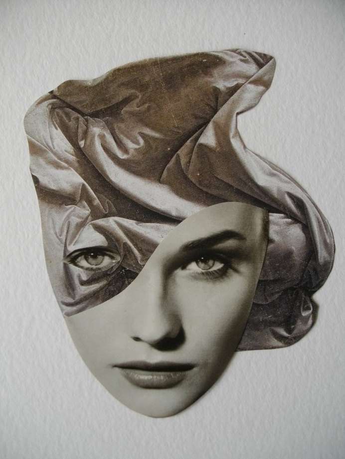 Rozenn Le Gall Collages #bizarre #woman #photo #eyes #head #manipulation #vintage #face #collage #beauty