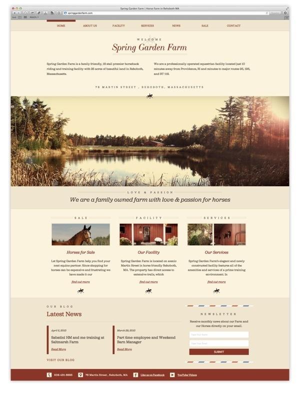 Spring Garden Farm on Behance #user #design #interface #layout #web #typography