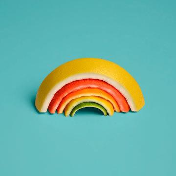 Journal #rainbow #fruit