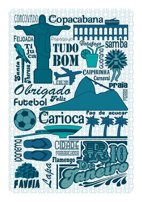 Brazil City Poster #city #design #illustration #poster #art #brazil
