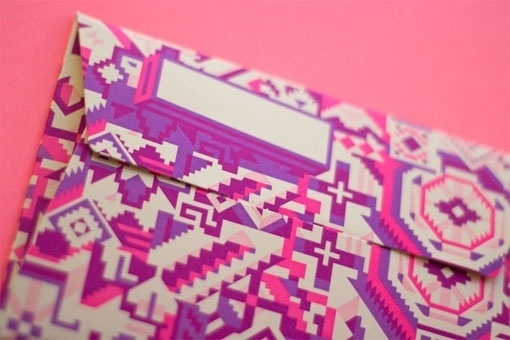 Design Work Life » cataloging inspiration daily #envelopes #american #letterpress #stationery #native #neon