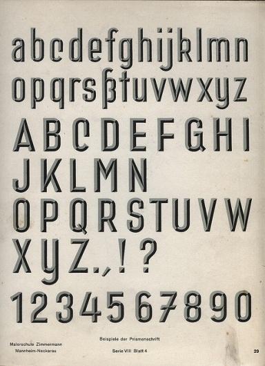 3-D Alphabet   Flickr - Photo Sharing! #chisel #lettering #1930s #typeface #manual #german