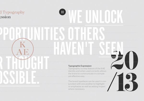 KAE — Strategic Marketing on Behance #branding #typography