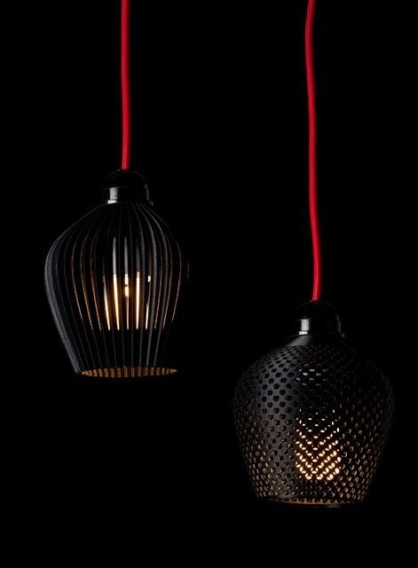 3D Printed Lamp Shades by Samuel Bernier #design #product #industrial #craftsmanship #engineering
