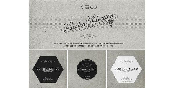 cornelia identity by Oriol gil www.mr cup.com #logo #identity #collateral #typography