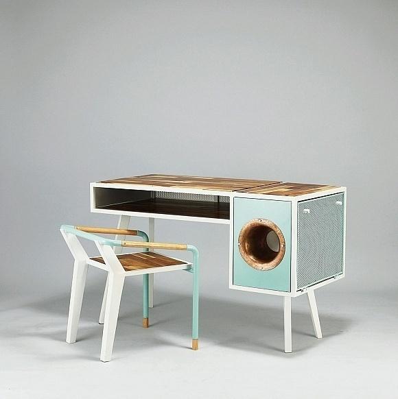 Soundbox desk #furniture #design #desk