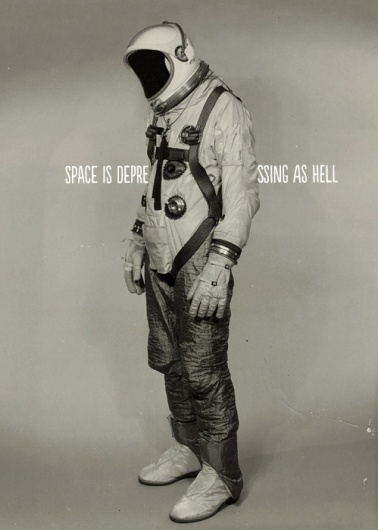 this isn't happiness™ (Space is depressing as hell)#astronaut