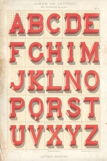 Vintage French Type Specimen Books Typography