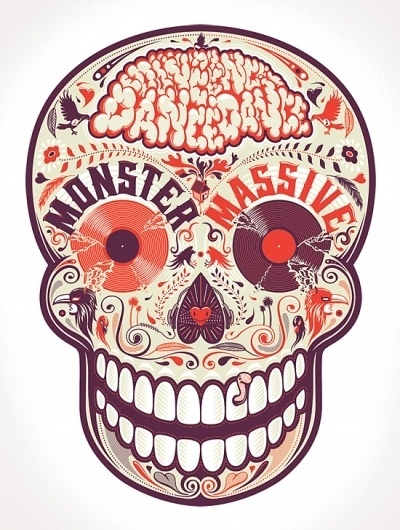Dia de los Muertos on the Behance Network #red #shimizu #shingo #art #street #skull