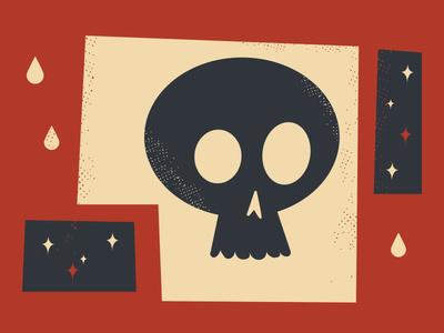 Skull #midcenturymodern #illustration #skull