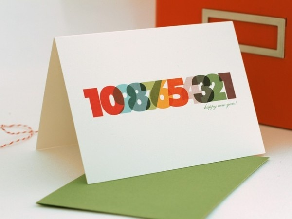 Happy New Year #numbers #card