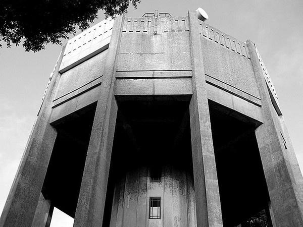 Bristol Water Tower #water #brutalism #bristol #architecture #coldwar #tower