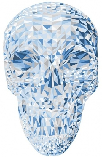 Piccsy :: Blue Skull #skull #geometry #polygons