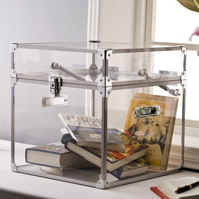Clear Acrylic Trunk #tech #flow #gadget #gift #ideas #cool