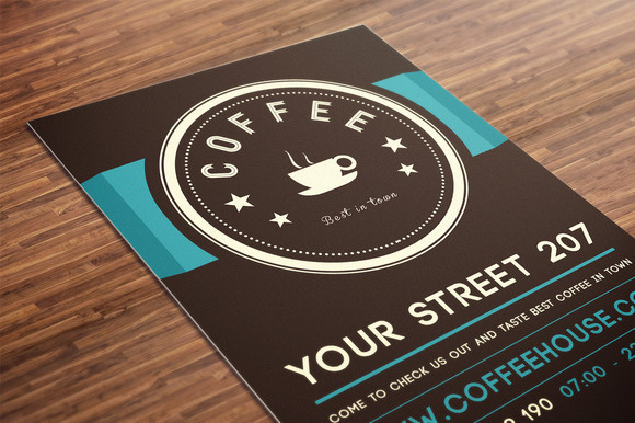coffee flyer mockup f.jpg (580×386) #coffee #flyer