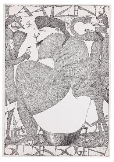 Laatzen Bilderbogen 1. Folge 4. Bogen 1967 Horst Janssen #janssen #poste #horst #illustration #poster