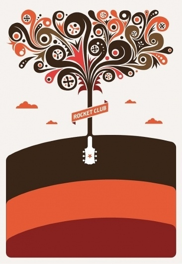 Rocket Club - Allan Peters #peters #allan #poster