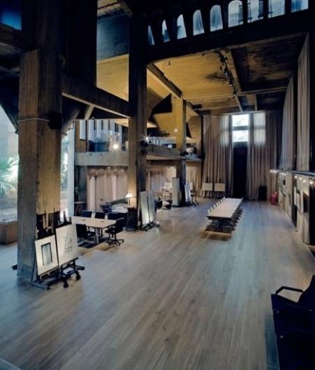 25-Year Refab: Concrete Factory Converted to Castle Home   Designs & Ideas on Dornob #interior #architecture