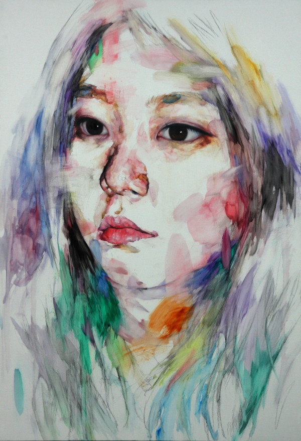 painting on Behance #figure #watercolor #portrait #painting