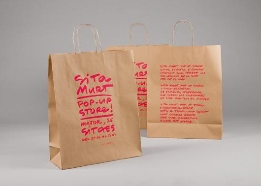 Sita Murt / Sita Murt Pop Up Store identity / Fashion #packaging #drawn #fashion #hand #neon
