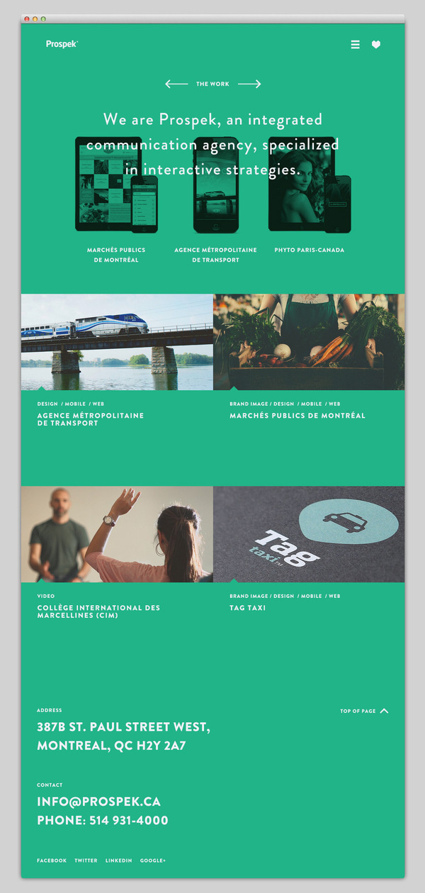 Prospek #website #layout #design #web