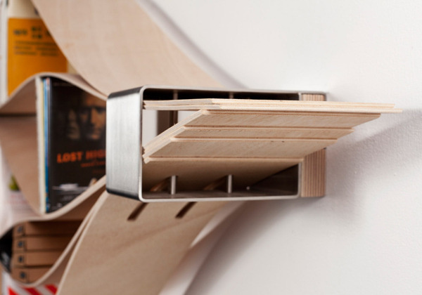 Chuck on Behance #wood #shelving