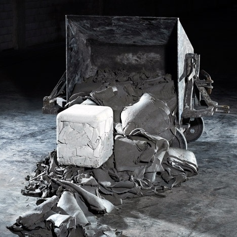 Trash Cube Pouf by Nicolas Le Moigne #trash #cube #eco
