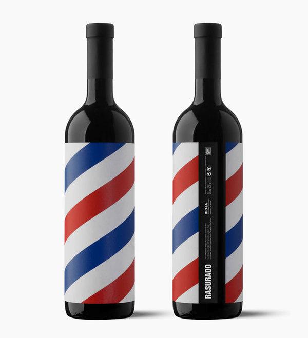 Rasurado #rioja #bottle #vino #design #graphic #wine #colors #pain #rasurado #moruba