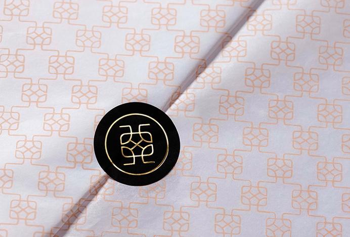 Aguaclara by Infinito #sticker #print #design #gold #foil #black #pink #pattern