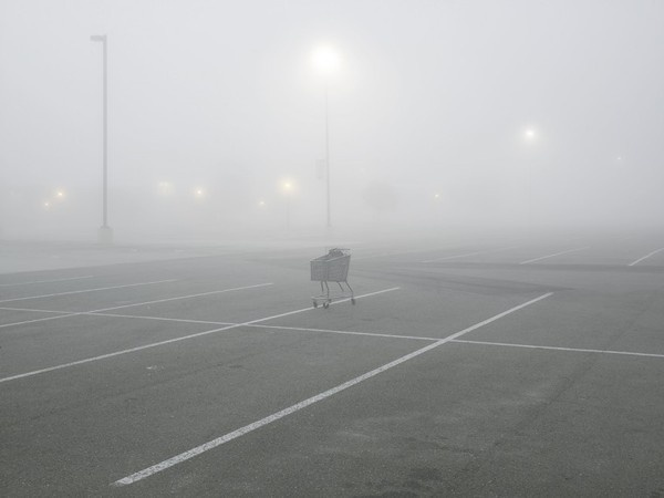 Shopping Cart, Tanger Factory Outlet Center, Interstate I 10, Gonzales, Louisiana, 1998, pigment print #photography