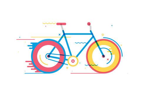 Tumblr #illustration #colorful #bike #bicycle #vectors