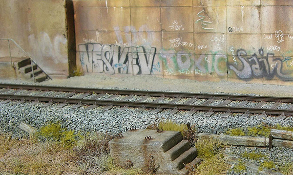 Diorama 1:87 Graffiti #train #model #diorama #photography #railway #miniature